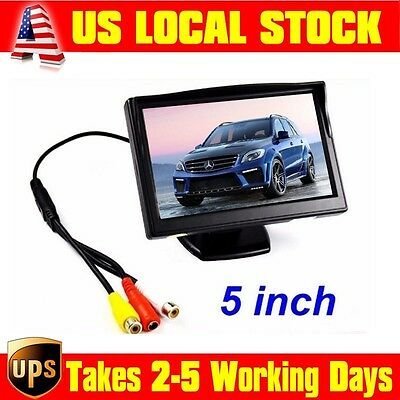 """5""""  High Resolution HD 800*480  2CH Car Vehicle TFT LCD Color Monitor Screen"""