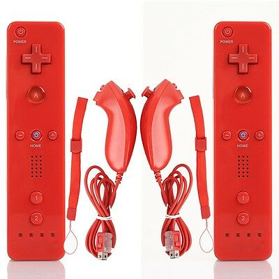 New! Wireless Controller Remote+Nunchuck Controller for Nintendo Wii WII U Stock