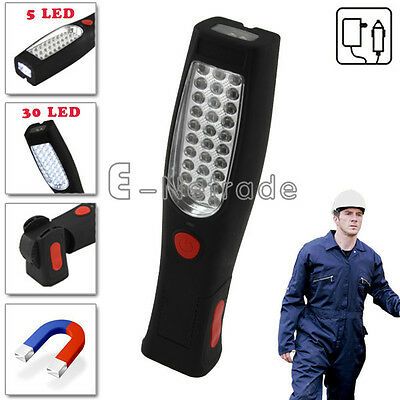 30+5 LED Rechargeable Flexible Inspection Lamp Torch Work Light Magnetic Rotate