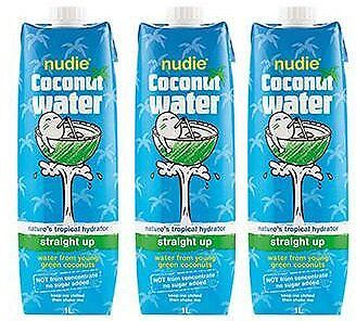 nudie straight up coconut water 1lt x 6