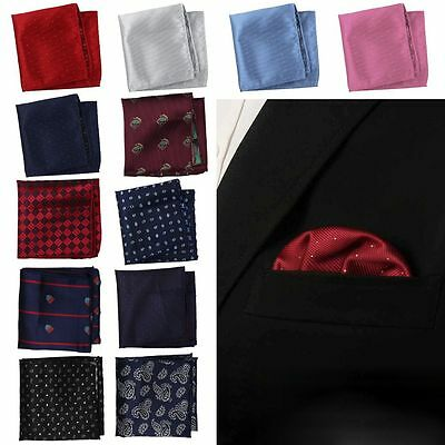 Mens Polka Dot Handkerchief Silk Pocket Square Hanky Multi Party Hankies