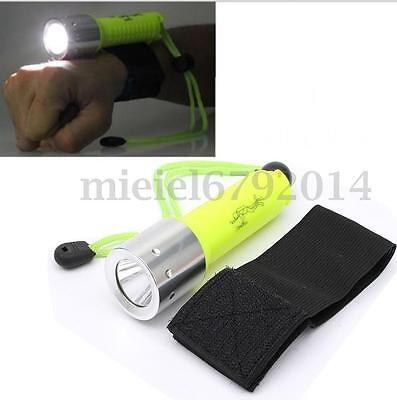 60M 2000LM Underwater Diving Waterproof T6 LED Flashlight Torch Light