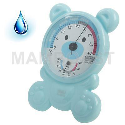Kid Room Thermo-Hygrometer with Holder, Baby Blue
