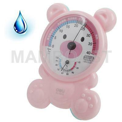Kid Room Thermo-Hygrometer with Holder, Pink