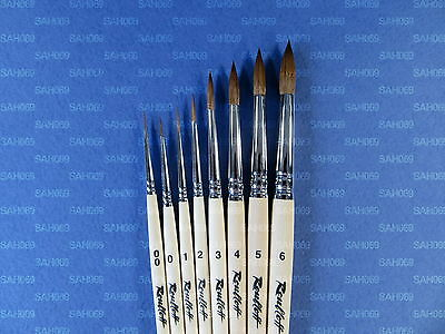 KOLINSKY SABLE PROFESSIONAL PAINT BRUSHES Short Handle 1010 Watercolor Roubloff