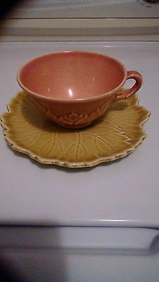 Woodfield Stubenville leaf tea cup and saucer
