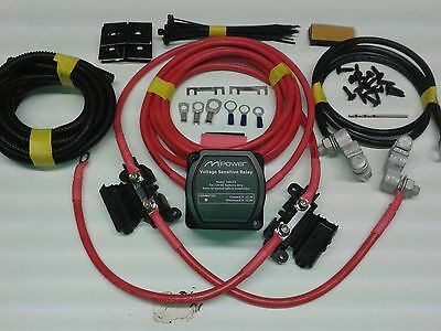 5mtr Split Charge Relay Kit 12V 140amp M-Power VSR System Ready Made Leads T4 T5