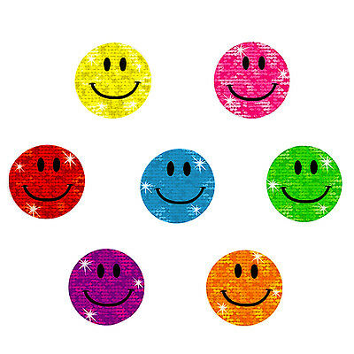 Oblique-Unique® - 112 x Glitzer Sticker Smile - Regenbogen Sticker für Kinder