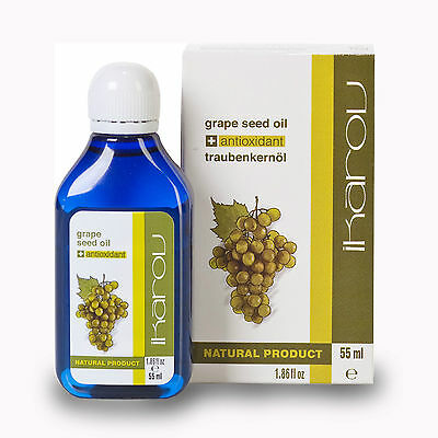 100%PURE NATURAL GRAPE SEED Oil Massage Essential by IKAROV LTD Face Neck & Body