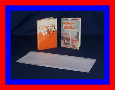 """25 pack 8"""" x 17 1/2"""" Brodart ARCHIVAL Fold-on Book Jacket Covers - Clear Mylar"""