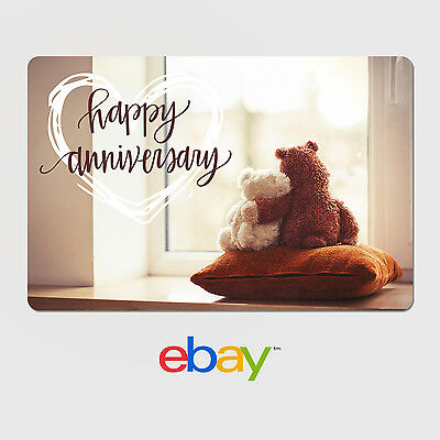 eBay Digital Gift Card - Anniversary Designs - Email Delivery