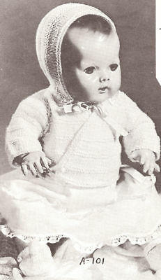 """Knitting PATTERN 10""""-18"""" Baby Doll Clothes Sweater Cap"""