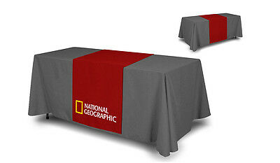 "CUSTOM FULL COLOR TRADE SHOW TABLE RUNNER 24""x 72"" Table Cloth not included"