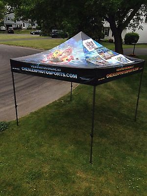 10-X-10 FULL COLOR CUSTOM TENT- COMMERCIAL USE- DURABLE- Any design or any color