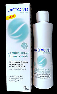 Lactacyd pharma intimate wash for daily use with antibacterials ,250ml.