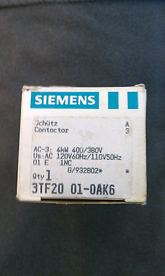 CONTACTOR 3TF20 01-OAK6. AC 120V new in box