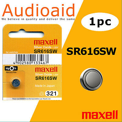 1Pc Sr616Sw (321) Genuine Maxell Silver Oxide Battery - Made In Japan (Not Fake)