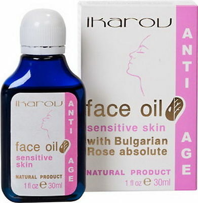 Natural Anti Age Anti Wrinkles Face Oil Sensitive Skin Bulgarian Rose by IKAROV