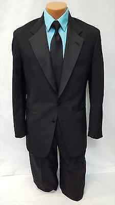 54 L Mens Black Tuxedo Prom Wedding Package Used Formal Special Coat Pants Sale