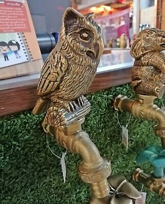 Faucet Brass Owl Vintage Tap Water Spout Bathroom Spigot Handle Outdoor Kitchen