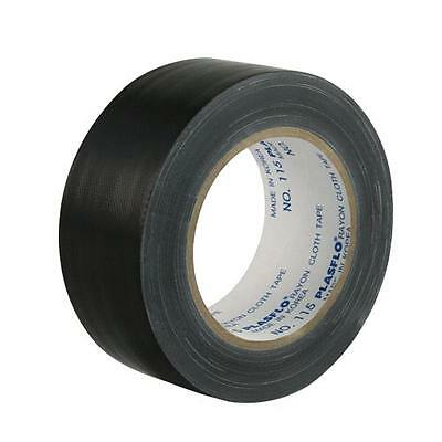5 Rolls 48mm x 25m Black Adhesive Cloth, Gaffa, Gaffer, Book Binding Tape