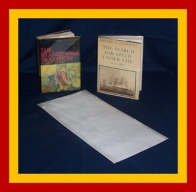 """1 (one) 10"""" x 21"""" Brodart ARCHIVAL Fold-on Book Jacket Cover - super clear mylar"""