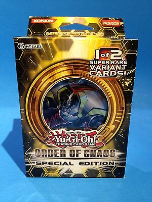 ORDER OF CHAOS Special Edition Box (3 packs + Foil RA / VEILER ) Sealed Yu-Gi-Oh