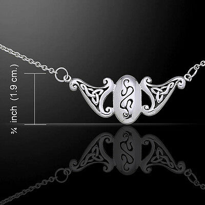 Celtic Knotwork Spirals .925 Sterling Silver Necklace by Peter Stone