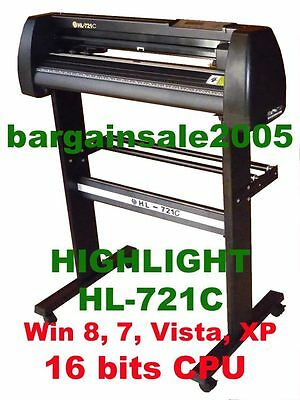 HIGHLIGHT HL-721C VINYL  CUTTING PLOTTER CUTTER4MB CORELDRAW Optical Eye Win 10
