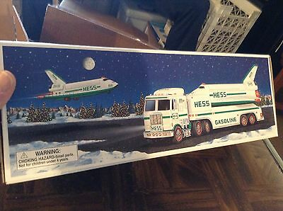 1999 Hess toy truck with space shuttle and satellite