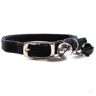 High Street Elastic Cat Collar with Double Bells