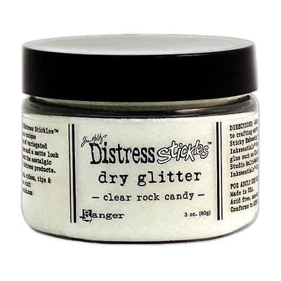 Distress Stickles Dry Glitter Clear Rock Candy - 60g Jar
