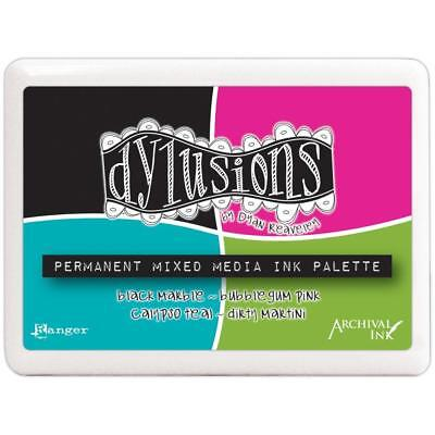 Archival Ink Pad - Mixed Media Palette - Dylusions - 4 Designer Colours
