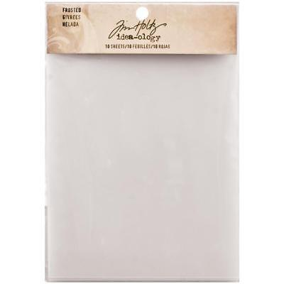Tim Holtz Idea-Ology Surfaces - Translucent Frosted Film - 10 Sheets