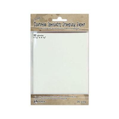 Distress Specialty Stamping Paper - Card Size - 20 Pack