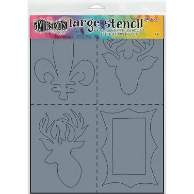 Dylusions Stencils and Masks - Large 9x12 - Country