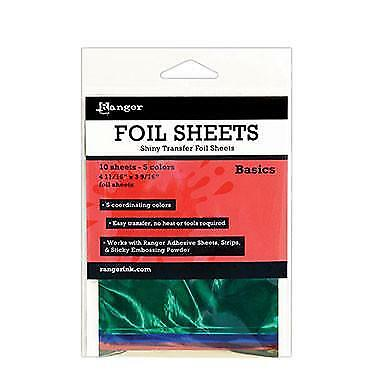 Shiny Transfer Foil Sheets - Basics - 10 Sheets