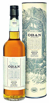 Oban 14 Jahre, Western Highland, Single Malt Whisky, 0,2 l.