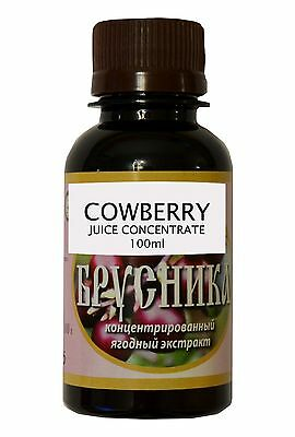 NATURAL COWBERRY JUICE CONCENTRATED, ORGANIC, 100 ml.