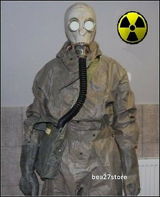Gas Mask  Nbc Hazmat Suit Radiation  Surplus Chernobyl  Chemical Fallout