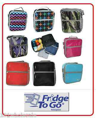 ❤ Fridge To Go Medium Lunchbox COOLER BAG 8 Design 8 Hours Cold Cool Kids Baby ❤