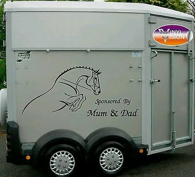 Horsebox Lorry Trailer Horse Stickers Decals Graphics Sponsored By Mum & Dad
