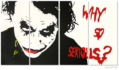 Portrait von HEATH LEDGER*JOKER aus BATMAN POP ART BILD XXL 200x115cm LEINWAND