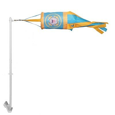 New In the Breeze US Coast Guard 14 Inch Spinsock Wind sock w/ free Car Pole