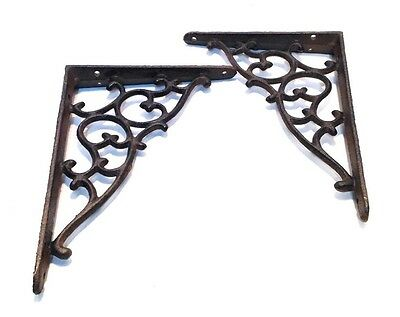 Architectural Cast Iron Shelf Brackets Delicate Filigree New Vintage Style