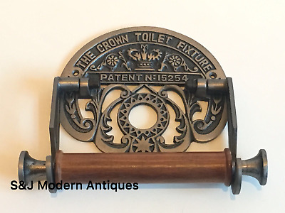 Victorian Toilet Roll Holder Chrome Novelty Unusual Vintage Crown Ornate Nickel