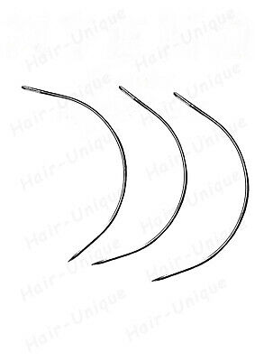 HAIR EXTENSIONS WEAVE WEFT C NEEDLES x 3 UK STOCK