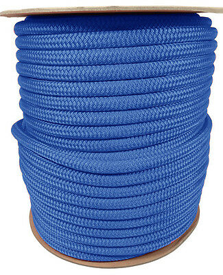 """ANCHOR ROPE DOCK LINE 1//2/"""" X 400/' BRAIDED 100/% NYLON NAVY BLUE MADE IN USA"""