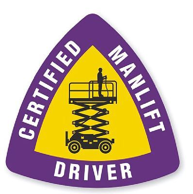 Certified Manlift Driver Hard Hat Decal Hard Hat Sticker Helmet Safety H195