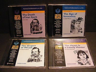 Bulk Lot 4-National Endowment for The Arts Audio Guides-Tolstoy-Stinebeck++ Cd's
